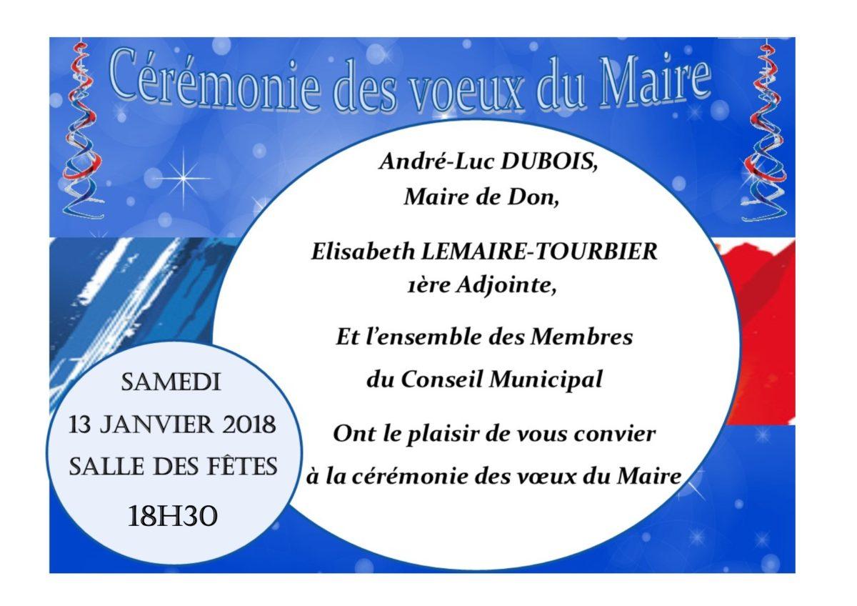 Vœux du Maire