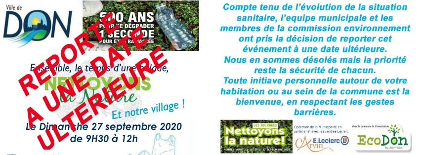 Opération propreté villages et alentours