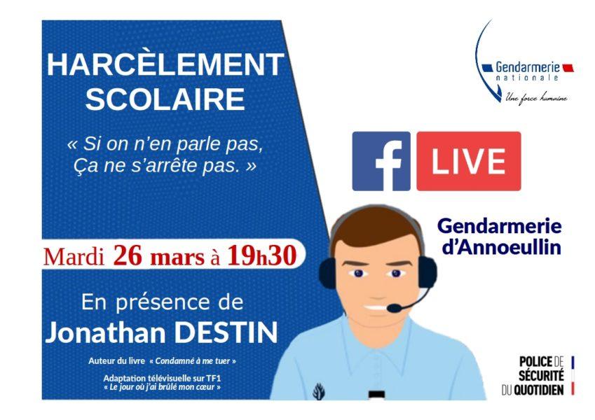 Harcèlement scolaire : La gendarmerie d'Annoeullin organise un Facebook live