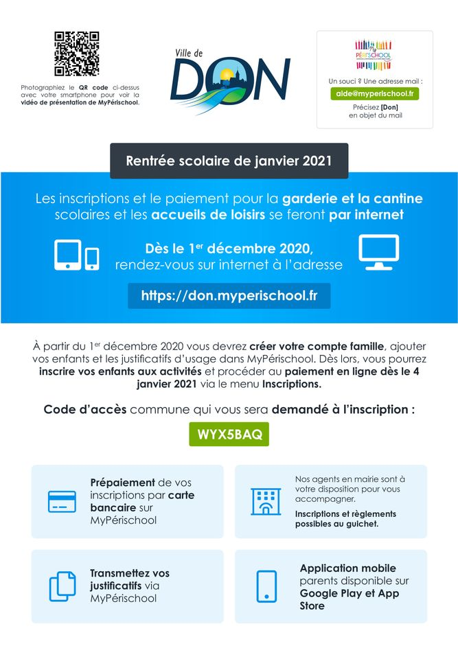 Nouvelle application MyPerischool